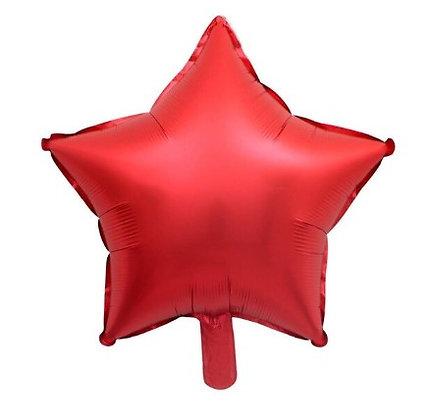 """Balon Foil Bintang 18"""" Merah Satin"""