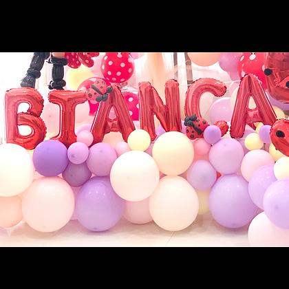 Organic Balloon + Letter Balloon
