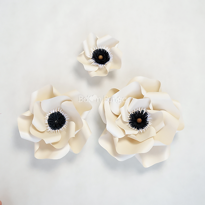 Gardenia Paper Flower (size on desc.)