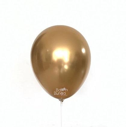 "11"" Gold Chrome Balloons"