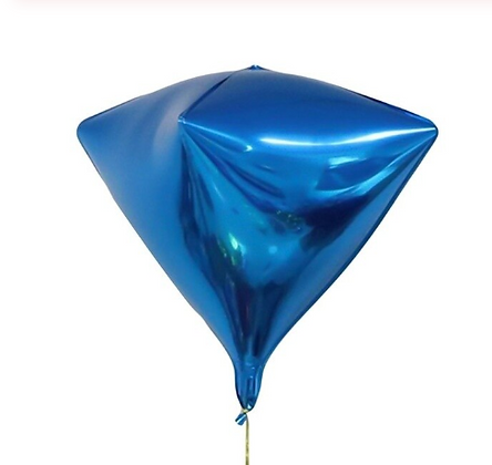 4D Kite Blue Foil Balloon