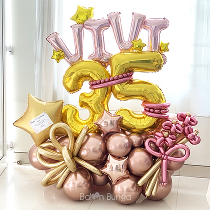 Big Bouquet Foil with Numbers