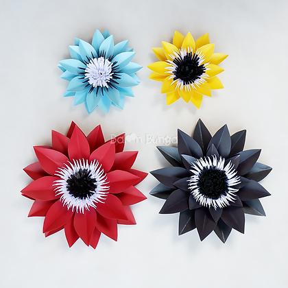 Sun Flower Paper Flower (size on desc.)