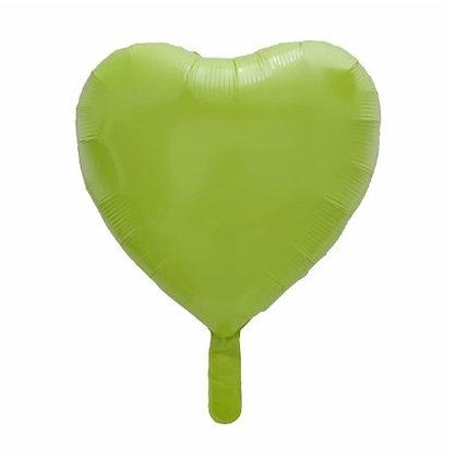 Green Macaron Heart Shape Foil Balloon