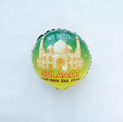 Balon Foil Idul Fitri Mini Round Shape