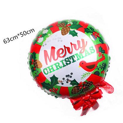 Merry Christmas Krans Balloon
