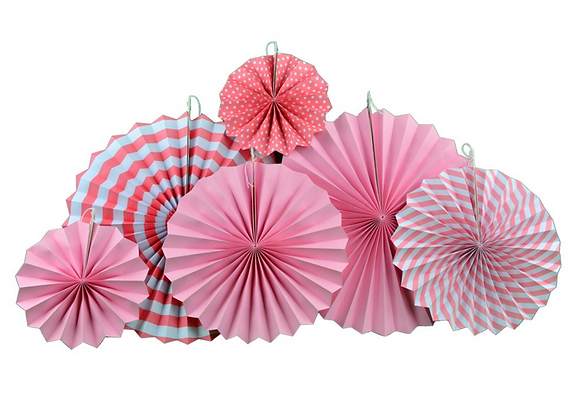 Pink Paper Fan