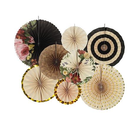 Vintage Flower Paper Fan