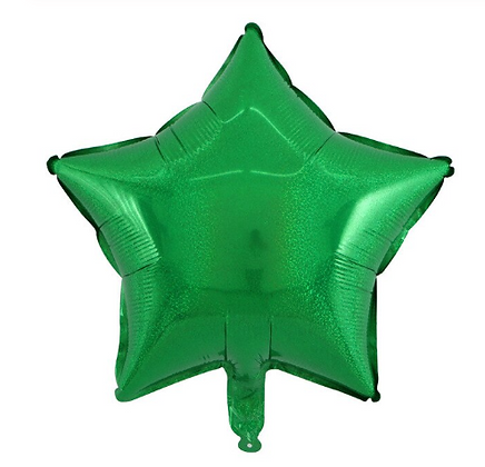 Holographic Emerald Green Star Foil Balloon