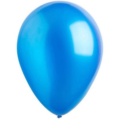 """Balon 12"""" Biru Tua Metalic"""