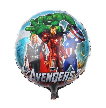 Balon Foil Avenger Round Shape