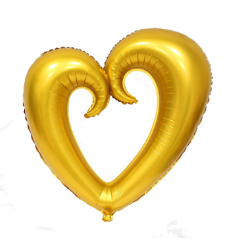 Hollow Heart Shape Gold Foil Balloon