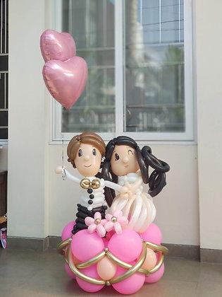 Balloon Art Married Couple