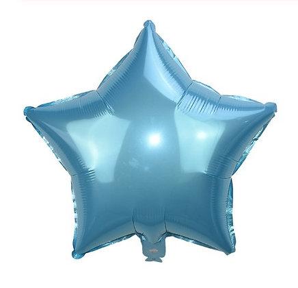 Balon Foil Bintang Biru Muda