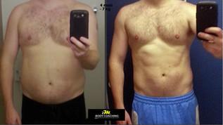 Stéphane en 4mois -7kg plus prise masse musculaire