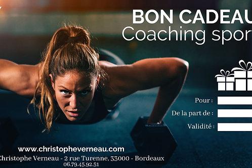 BON CADEAU | COACHING SPORTIF | 1 BILAN + 1 SEANCE + 1 SUIVI SPORTIF 30 JOURS