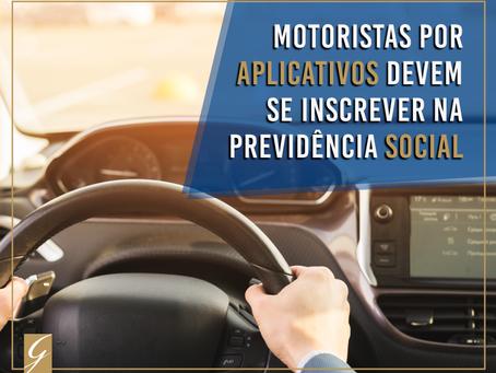 Motoristas de aplicativos terão que se cadastrar na Previdência Social