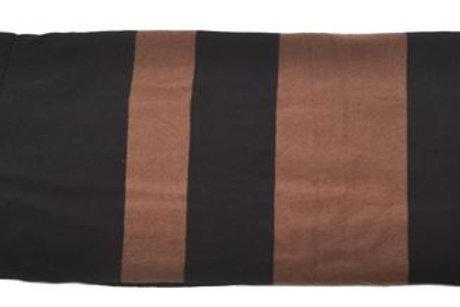 Broad Stripe with fringe - Black and chestnut