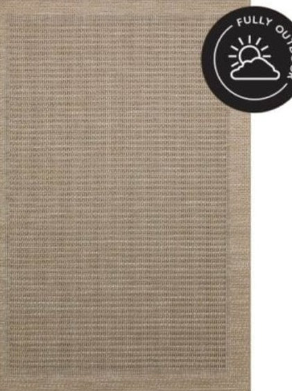 OUTDOOR WOVEN TWINE RUG - Natural
