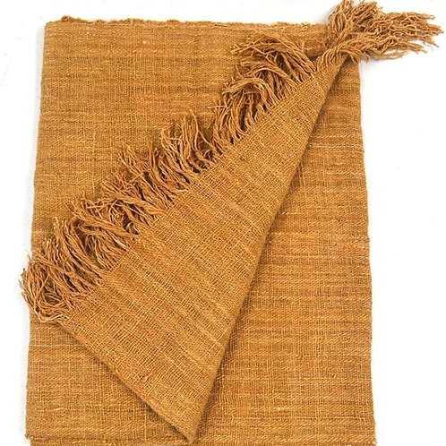 Throw with fringe - Pale Terracotta