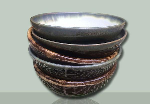 Handmade breakfast bowls by Vicky Faulkner Design