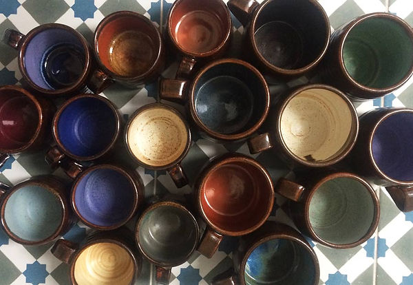 Hand thrown espresso coffee cups by Vicky Faulkner Design