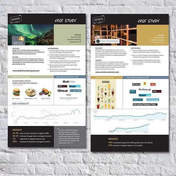 Case Study presentation materials for Datadial by Vicky Faulkner Design
