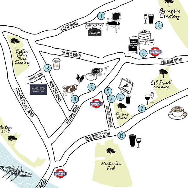 Hand drawn maps by Vicky Faulkner Design