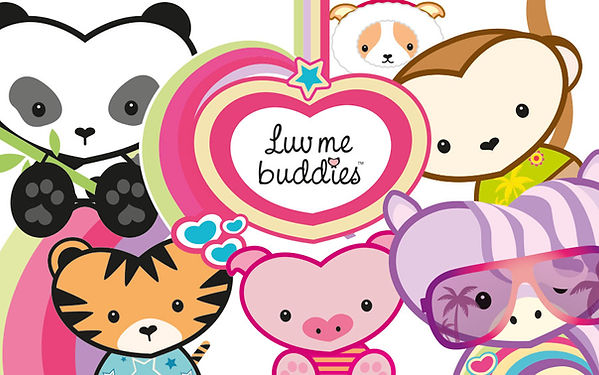 Luv me Buddies Character Design by Vicky Faulkner Design