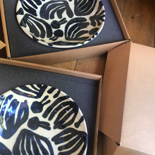 large patterned bowls  Ø. 40cm  stoneware with cobalt