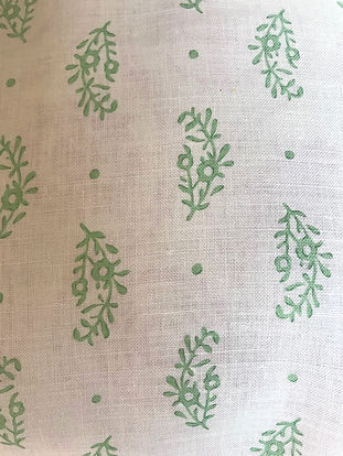 Paisley Sprig Green Tasha textiles by Natasha James