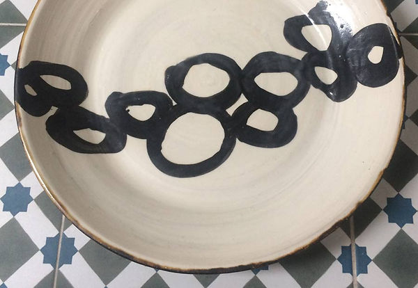 Stonewear plate by Vicky Faulkner Design