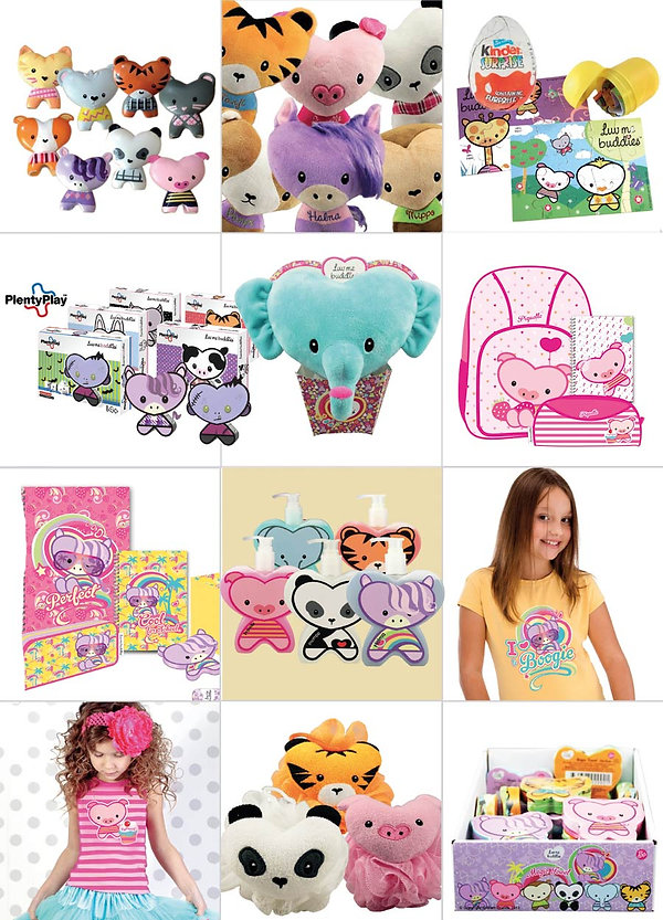 Luv me Buddies Character Design and merchandise by Vicky Faulkner Design