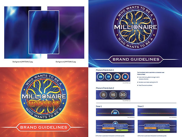 Who wants to be a millionaire Style Guide update by Vicky Faulkner