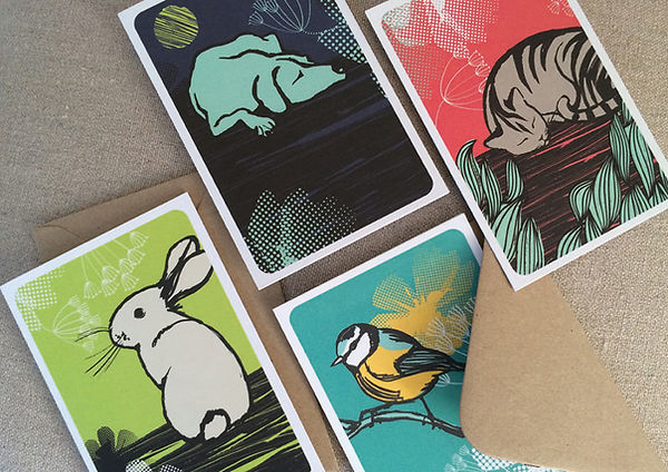 RSPCA Greetings Cards designed by Vicky Faulkner Design