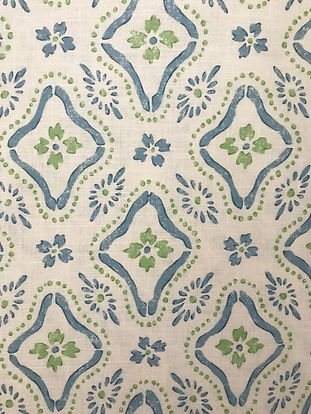 Polonaise Blue/Green Tasha textiles by Natasha James