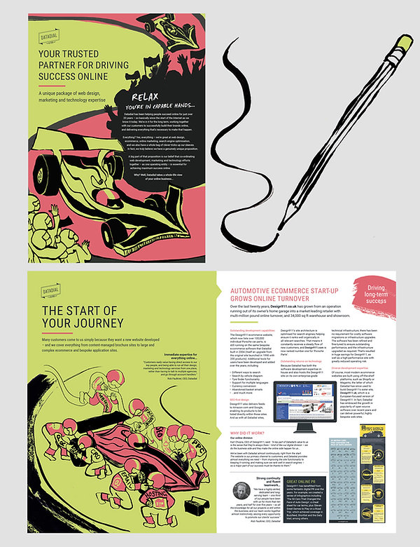 Brochure Design for Datadial by Vicky Faulkner Design
