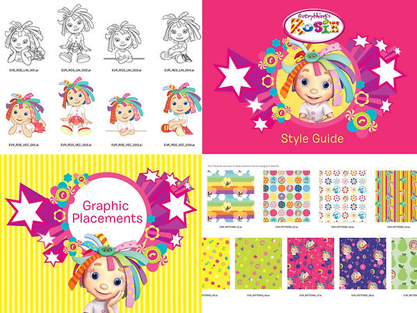 Everything's Rosie Style Guide Designed by Vicky Faulkner Design