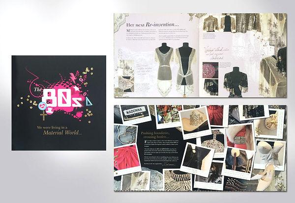 Madonna clothes memorabilia brochure design by Vicky Faulkner Design