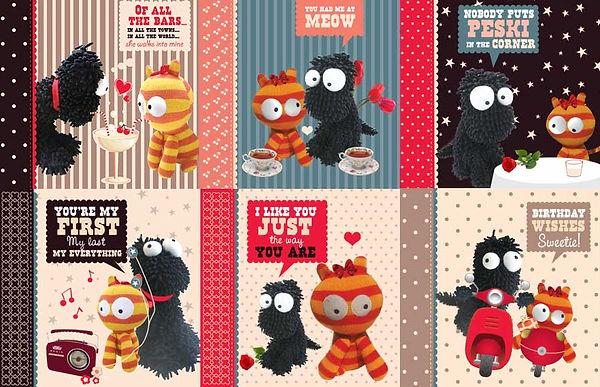 Bob & Peski character Design by Vicky Faulkner Design