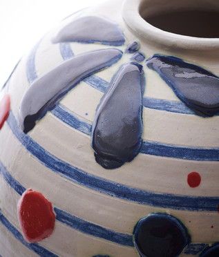 large jar with red  (detail)