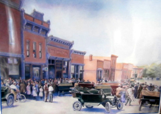 1908 Main Street scene