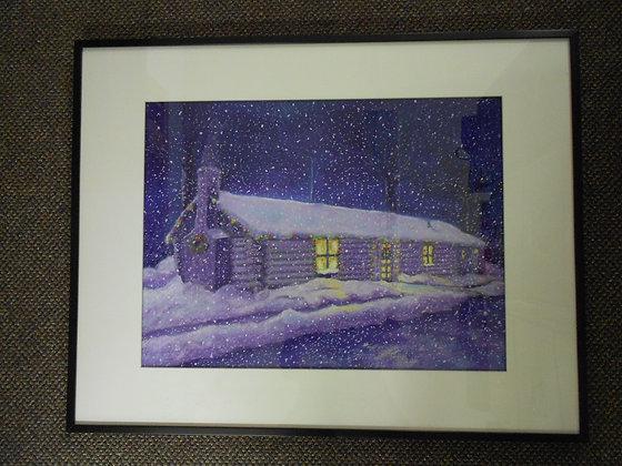 Slater Iowa Log Cabin 2015 Christmas Card