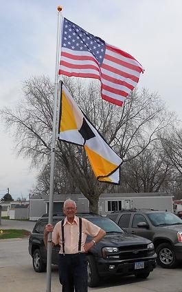 howard and flagpole.JPG