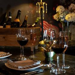Table set at Remedy Wine Bar