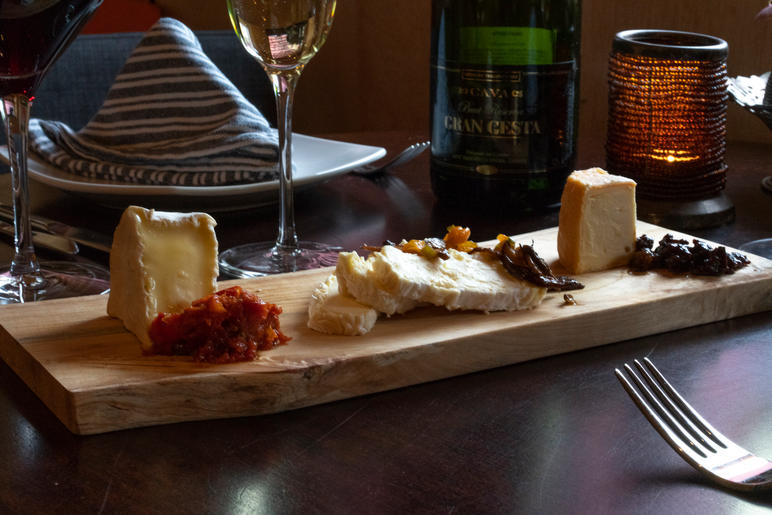 wine and cheese platter at Remedy Wine Bar