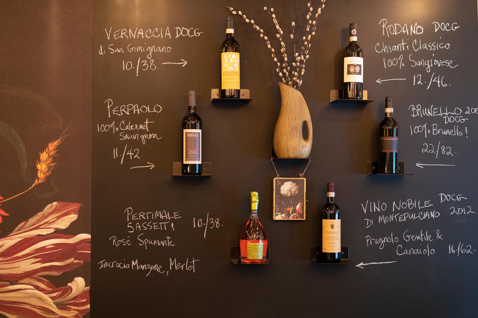 Wine selection at Remedy Wine Bar in Vermont