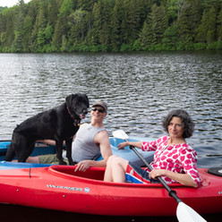 Nancy, Kyle & Dog