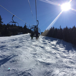 Ski lift in the sun