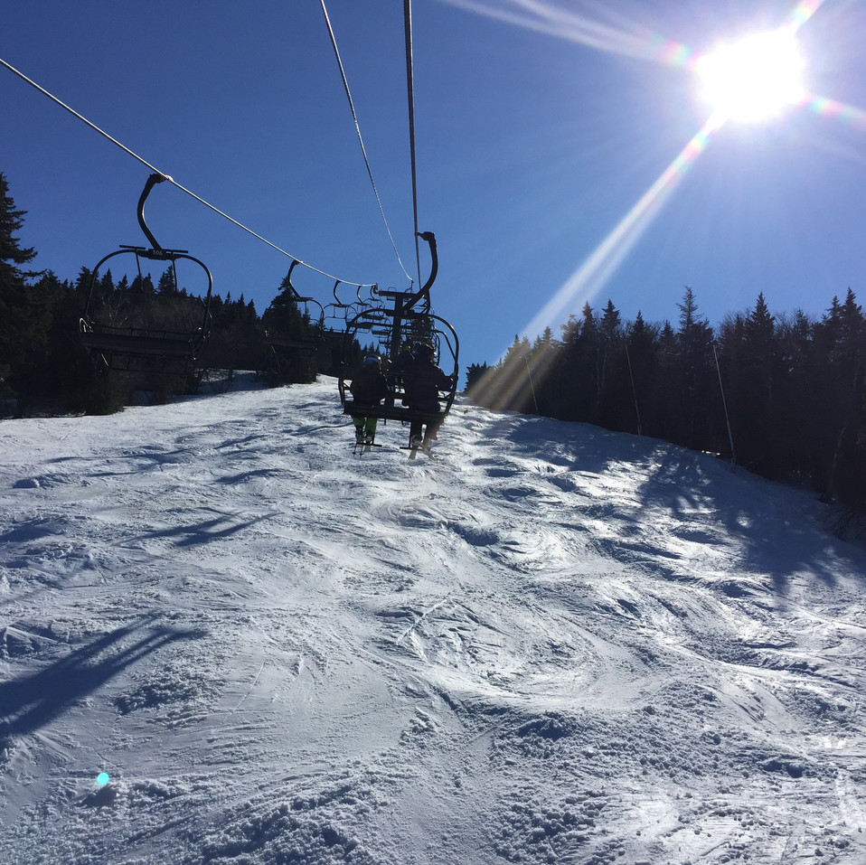 Ski lift in the sun